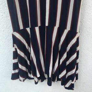 Zara Dresses - NWT Zara Trafaluc Striped Frill Bottom Midi Dress